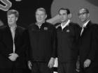 Charlie Denson, Jerry Colangelo, Coach K and Dennis Walcott