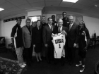 Former Secretary of Defense Donald Rumsfeld - USA Basketball- Pentagon  Greg Oden, Jerry Colangelo and Kevin Durant