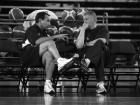 Coach K and Jerry Colangelo at the USA Senior Mens National Team practice