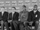 Jerry Colangelo, Coach K, Carmelo Anthony and Dwayne Wade
