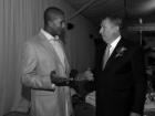 Raja Bell and Jerry Colangelo